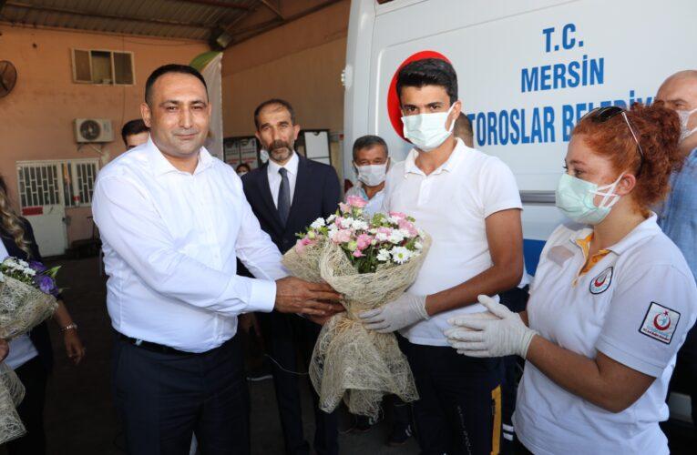 """""""Dünya İlk Yardım Günü'nde Acil Vaka İhbarı Üzerine Geldiler, Alkışlarla Karşılandılar"""""""